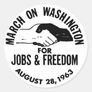 March on Washington 1963 Round Sticker