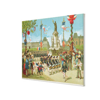 March-Past in the Place de la Republique Canvas Print