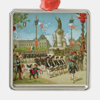 March-Past in the Place de la Republique Christmas Ornament