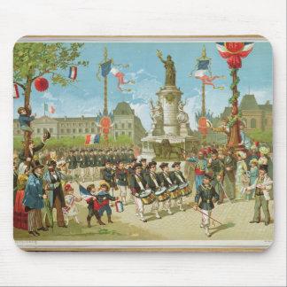 March-Past in the Place de la Republique Mouse Mat