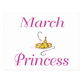 March Princess Postcard