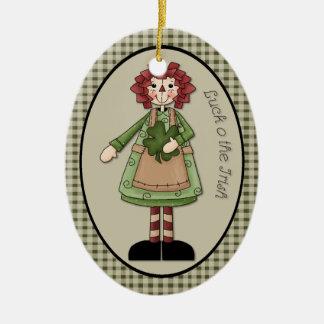 "March Raggedy Ann ""Luck O the Irish"" Ornament"