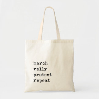 march rally protest repeat tote