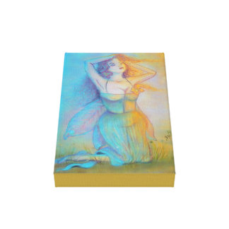March Spring Fairy Canvas Print