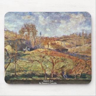 March Sun By Pissarro Camille Mousepad