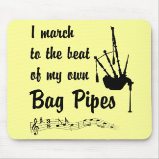 March to the Beat: Bag Pipes Mouse Pad