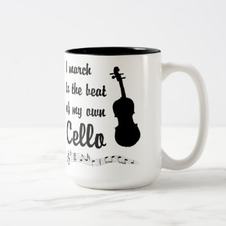 March to the Beat: Cello Two-Tone Coffee Mug