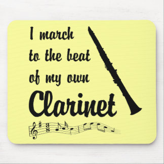 March to the Beat Clarinet Mouse Pads