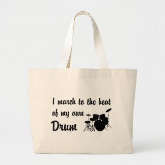 March to the Beat: Drums Large Tote Bag
