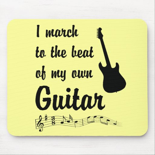 March to the Beat: Guitar Mouse Pad