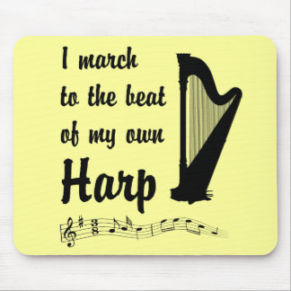 March to the Beat Harp Mousepad