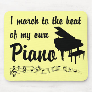 March to the Beat Piano Mouse Pad