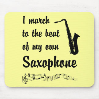 March to the Beat: Saxophone Mouse Pad