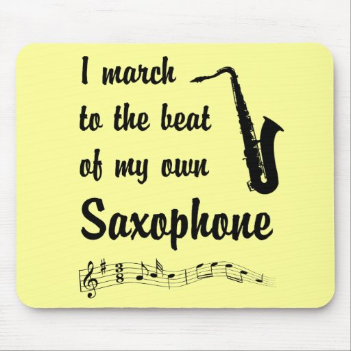 March to the Beat: Saxophone Mousepads