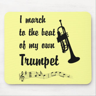 March to the Beat Trumpet Mousepad