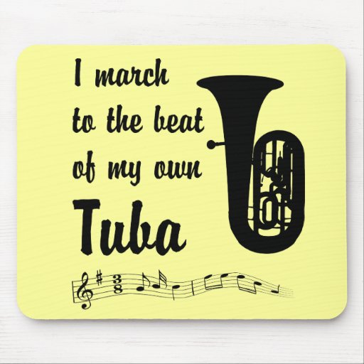 March to the Beat: Tuba Mouse Pad
