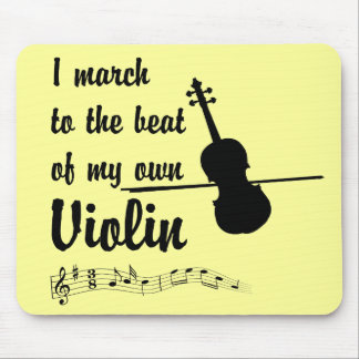March to the Beat Violin Mouse Pad