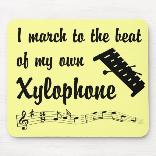 March to the Beat: Xylophone Mouse Pads
