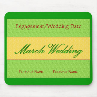 """""""March Wedding"""" Mousepad -Customizable Mouse Pads"""