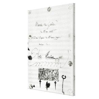 Marche des Gardes du Franc Comte' Gallery Wrap Canvas
