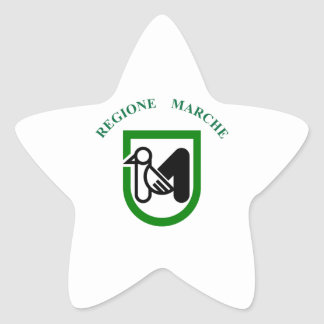 Marche (Italy) Flag Star Sticker