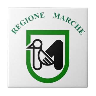 Marche Italy Flag Ceramic Tiles