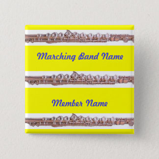 Marching Band Buttons ~ Flute