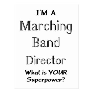 Marching band conductor postcard