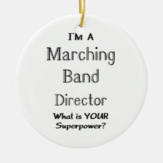 Marching band conductor round ceramic decoration