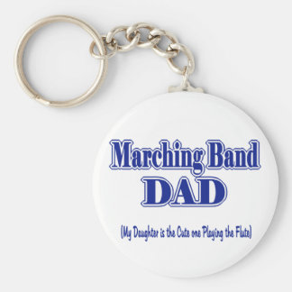 Marching Band Dad/ Flute Key Ring
