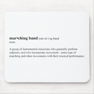 Marching Band Definition Mouse Pad