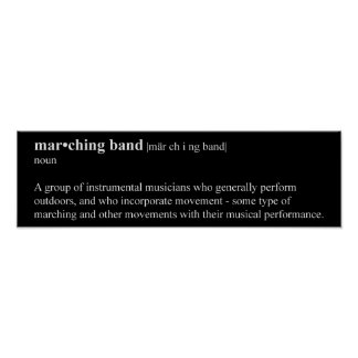 Marching Band Definition Poster