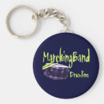 Marching Band Drumline Key Chain