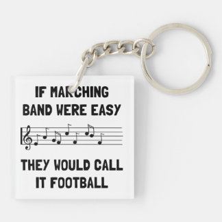 Marching Band Easy Double-Sided Square Acrylic Key Ring