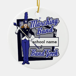 Marching Band Geek Blue Christmas Ornament