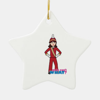 Marching Band Girl Ceramic Star Decoration