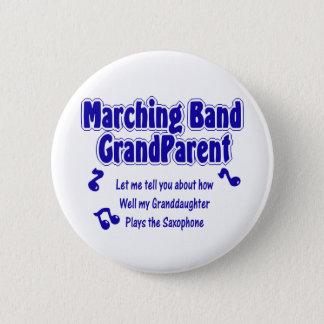 Marching Band Grandparent/ Saxophone 6 Cm Round Badge