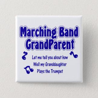 Marching Band Grandparent/ Trumpet 15 Cm Square Badge