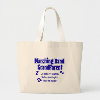 Marching Band Grandparent/ Trumpet Large Tote Bag