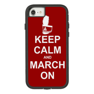 Marching Band Keep Calm and March On Case-Mate Tough Extreme iPhone 8/7 Case