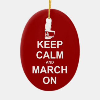 Marching Band Keep Calm Personalized Christmas Ornament