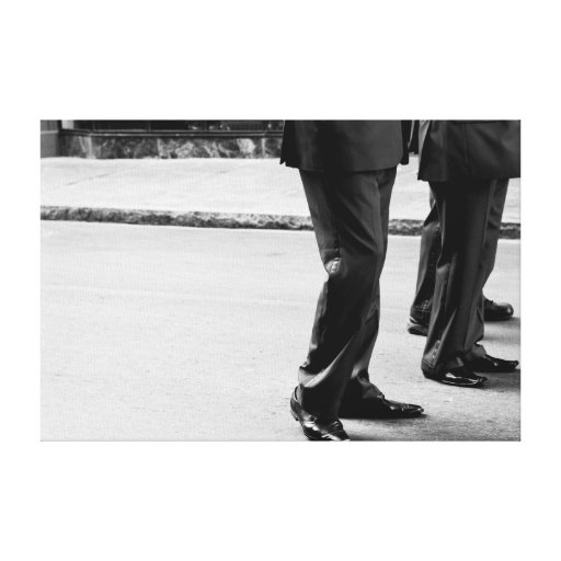 Marching band legs stretched canvas prints