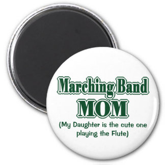 Marching Band Mom Flute Green 6 Cm Round Magnet