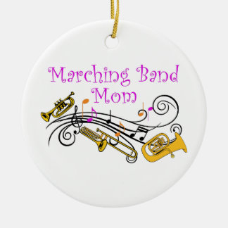 MARCHING BAND MOM ROUND CERAMIC DECORATION
