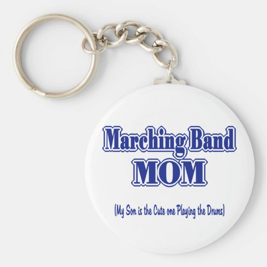Marching Band Mum/ Drums Basic Round Button Key Ring