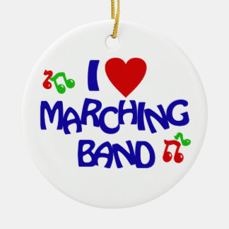 Marching Band Photo Round Ceramic Decoration