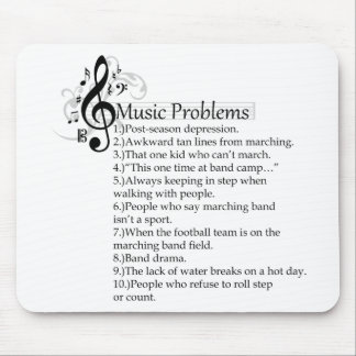 Marching band problems list mouse pad