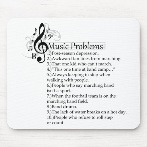 Marching band problems list mousepads