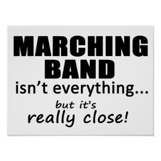 Marching Band Really Close Poster
