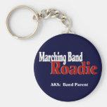 Marching Band Roadie Basic Round Button Key Ring